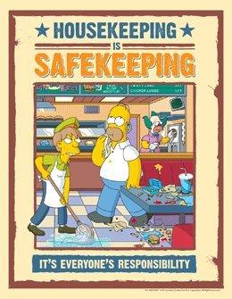 Simpsons Housekeeping Safety Poster - Housekeeping Is Safekeeping