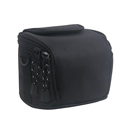FOSOTO ケースバッグはNikon Coolpix L330 L340 L320 L310 L820 L810 L620 L610 CANON POWERSHOT SX410 IS SX510 HS G1 Nikon 1 J2 J3 S1 V2 Panasonic Lumix DMC LZ20 LZ30などのコンパクトデジタルカメラに対応 ブラック