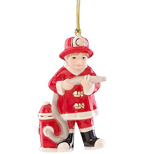 LENOX FIREMAN ORNAMENT (Fireman With Hose Adult Costume)
