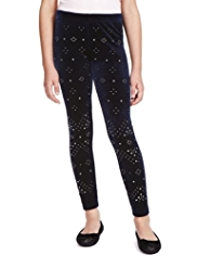 Autograph Stud Embellished Leggings