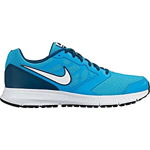 Nike Downshifter 6 - Zapatillas unisex, color azul / blanco / negro, talla 11