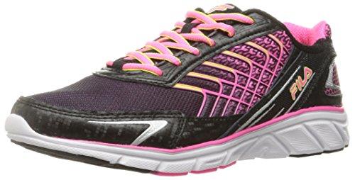 Fila Women's Memory Core Callibration 3 Running Shoe, Black/Knockout Pink/Safety Yellow, 8 M US
