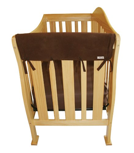 Trend-Lab Crib Wrap Rail Guard Set of Two Short Rail Guards, Brown Fleece