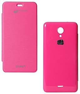 DMG Premium Flip Cover Book Case For Micromax Unite 2 A106 (Pink)