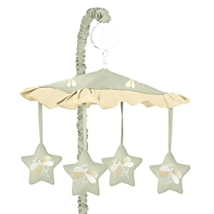 Sweet Jojo Designs Musical Baby Crib Mobile - Green Dragonfly Dreams Musical Baby Crib Mobile
