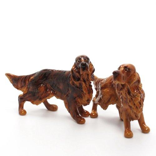 Irish Setter Dog Ceramic Figurine Salt Pepper Shaker 00002 Ceramic Handmade Dog Lover Gift Collectible Home Decor Art and Crafts