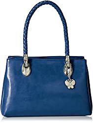 Butterflies Women's Handbag (Blue) (BNS 0583BL)