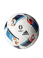 adidas Balón de Fútbol EURO16 Glider (Blanco / Azul / Naranja)