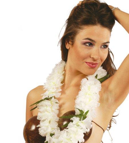 Guirma - Collar hawaiano blanco lujo