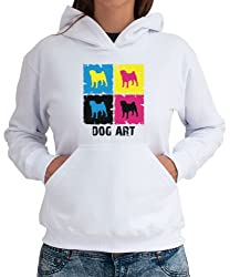 Pug DOG ART POP ART Womens Hoodie