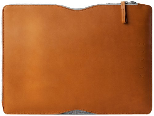 Mujjo MUJJO-SL-029-TN Understated Sleeve für Apple Macbook Pro 33 cm (13 Zoll) hellbraun