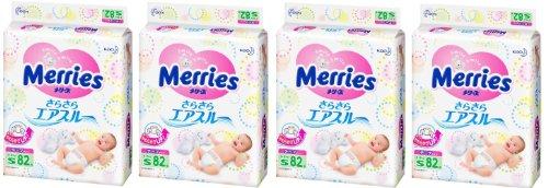 Sofà Pantalone Culotte Merries S. Unicharm-Pannolini giapponesi Merries 4-8 kg (S (352 pz.