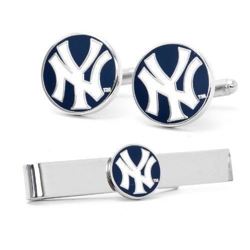MLB New York Yankees Cufflinks and Tie Bar Gift Set
