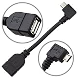 POWERPLUS Micro USB Host Mode On The Go OTG Cable for Xoom, Samsung Galaxy S2, S3, S4, Nokia N810 / N900, SONY Z, Toshiba TG01, Archos G9 (OTG Cable ONLY)