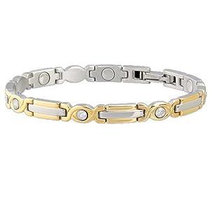 Buy Sabona Lady Executive Two-Tone Gem Magnetic Bracelet (Various Sizes) by Sab