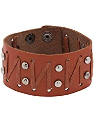 Voylla Stunning Genuine Leather Bracelet With Metal Charm