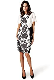 Per Una Monochrome Floral Shift Dress