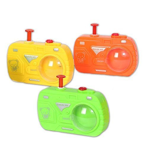 Dazzling Toys Plastic Camera Water Gun (Pack of 3) Great for Parties, kids favors etc.