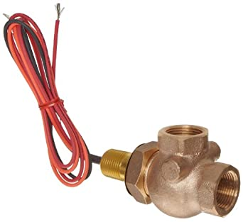 Gems Sensors FS-400 Adjustable Series Bronze Flow Switch, Elbow, Shuttle Type, NPT Female