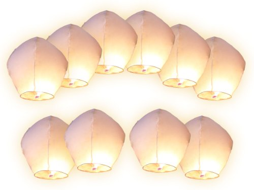 10-pz-lanterne-cinesi-volanti-bianchi-lanterna-cinese-volante-del-cielo-bianca-bianco-regalo-di-comp