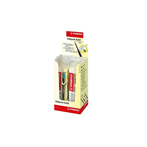 Stabilo Recharge pour stylo à bille à pointe moyenne 0,5mm encre turquoise