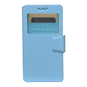 Jo Jo Cover Toto Series Leather Pouch Flip Case With Silicon Holder For Celkon A90 Sky