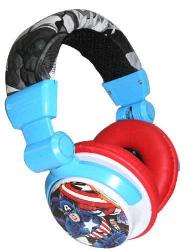 Ihip Mvf10266Ca-New Marvel Captain America Dj Style Headphone, Red/White/Blue