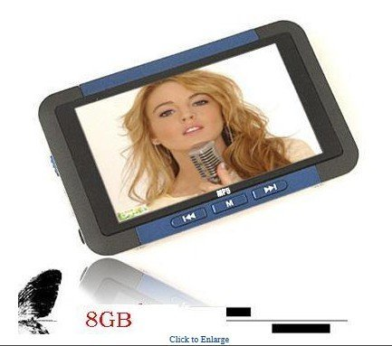 BG EB Real 8GB MP3 MP4 MP5 Media Player 3.0'' TFT Screen Support AVI MPEG RMVB FM Ebook TV Out