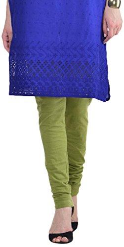 Sohniye Women's Cotton Leggings [Mehendi Green]