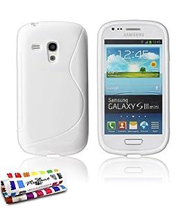 """Muzzano Coque Souple Originale Ultra Fine Blanc """"Le S"""" Premium pour Samsung Galaxy S3 Mini (I8190)"""
