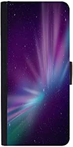 Snoogg Aurora Polar Lights Graphic Snap On Hard Back Leather + Pc Flip Cover ...