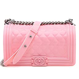 MyLux® Connection Fashion Women Jelly Clutch Handbag h14062 (pink)