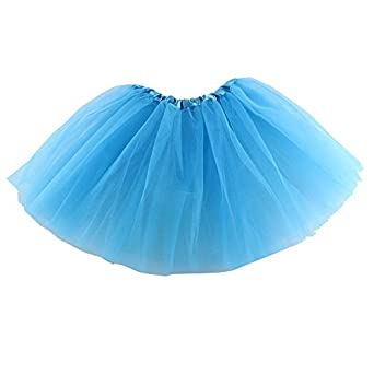 "Wennikids 10-12"" Long Girls Ballet Dance Tutu - 3 Layers Turquoise"