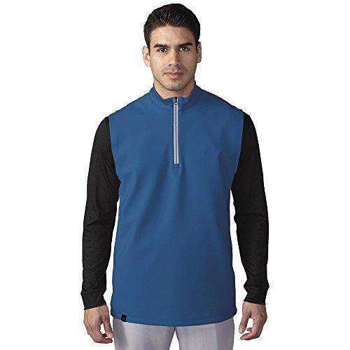 Adidas Golf 2016 Da uomo ClimaCool Da gara Mezza Cerniera Gilet Maglione - sintetico, EQT Blu, 13% elastane 87% poliestere, Uomo, L