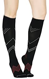 Buttons & Pleats Womens & Mens Medical Grade 20-30 mmHg Compression Socks Chevron ML