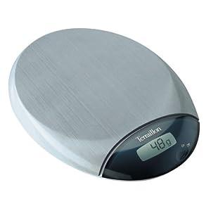 Terraillon Café 5-Pound Digital Kitchen Scale, Stainless Steel