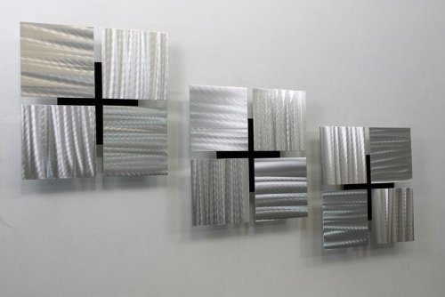 Beautiful Modern Metal Wall Hangings For Your Home: Abstract Metal Wall Art Panels: Beautiful And Elegant