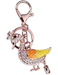 "Young & Forever ""Quirky Collection"" Gold Plated CZ Crystal Peacock Hangbag Charm By CrazeeMania - HBC50134"