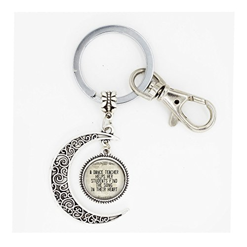 Dance Teacher full moon keychain Dance Teacher full moon key ring , Dance Teacher Gift, Dance Gift, Dance Recital Gift
