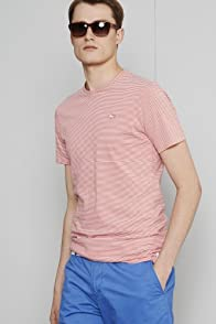 Short Sleeve Crewneck Fine Stripe T-shirt