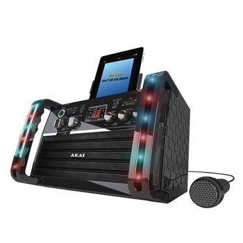 Akai Cdg Portable Karaoke System With Ipad Cradle & Line Input