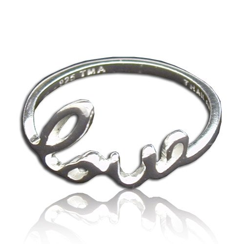 Tomas Sterling Silver Love Ring - 6