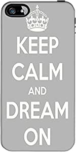 Snoogg Keep Calm And Dream On Designer Protective Back Case Cover Forapple Ip...