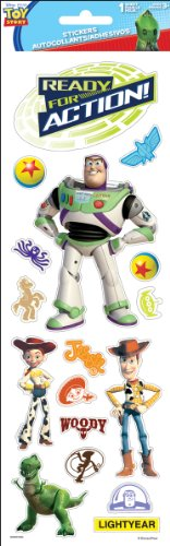 Sandylion Toy Story Embossed Paper Sticker, 4 by 12-Inch