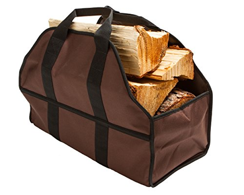 Premium Firewood Carrier & Log Tote by SC Lifestyle (Brown) (Wood Tote compare prices)