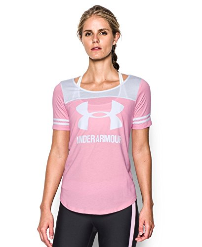 Under Armour Women's UA Graphic Baseball T Large Pink