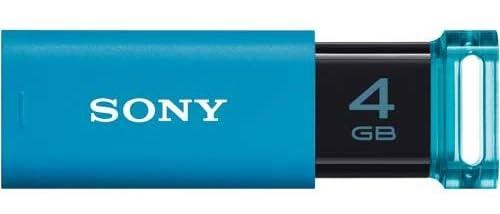 ソニー USB3.0対応 ノックスライド式USBメモリー ポケットビット 4GB ブルー キャップレス USM4GU L