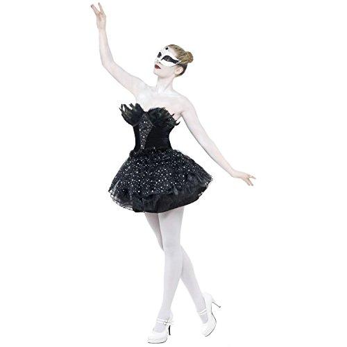 [GSG Black Swan Halloween Costume Adult Fancy Dress] (Black Swan Costume Wings)