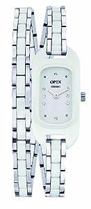 Opex - X0391CA2 - Ballerine - Montre Femme - Quartz Analogique - Cadran Blanc - Bracelet Céramique Blanc