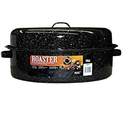 "Granite Ware 19"" Covered Oval Roaster 0510-4"